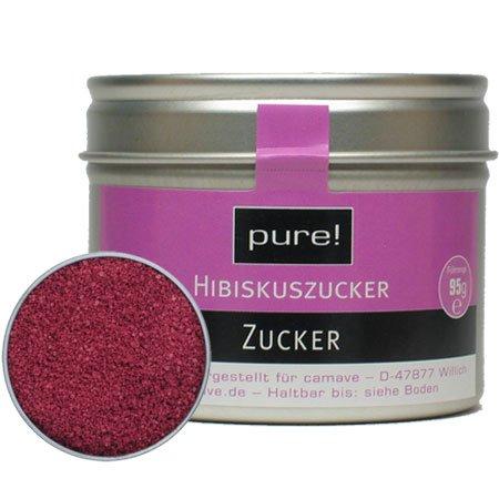 hibiskus zucker ist fruchtiger bl tenzucker ohne zusatzstoffe von pure. Black Bedroom Furniture Sets. Home Design Ideas